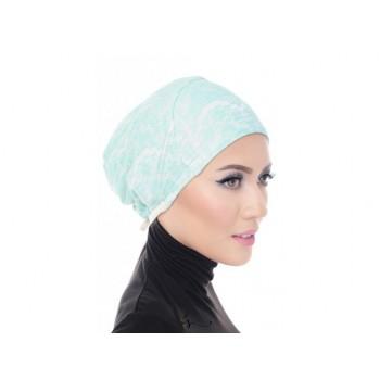 Shawlbyvsnow Inner Lace Bonnet Cap Basic Mint