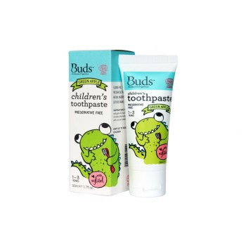 Buds Organics Green Apple Children's Toothpaste With Xylitol (1-3 years old)