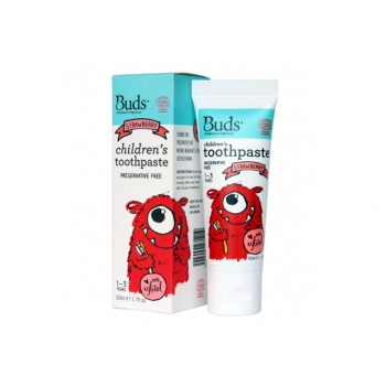 Buds Organics Strawberry Children's Toothpaste With Xylitol (1-3 years old)