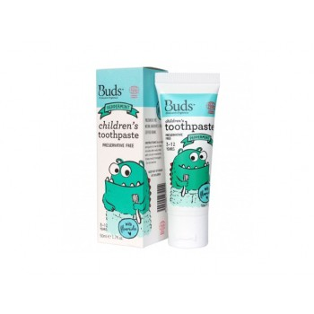 Buds Organics Peppermint Children's Toothpaste With Fluoride (3-12 years old)