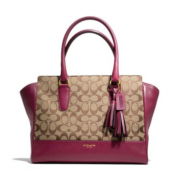 Coach Legacy Signature CarryAll Tote Bag
