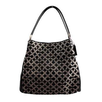 Coach Madison Tote Black & White