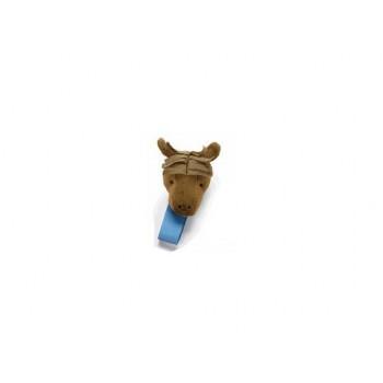 Mudpie Plush Horse Pacifier Clip