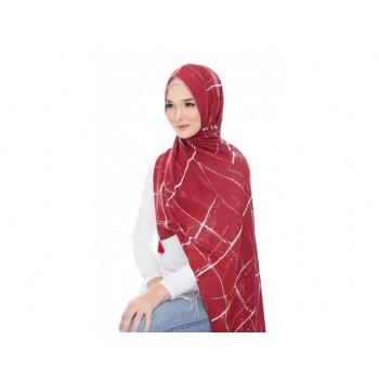 Shawlbyvsnow Printed Chiffon Long Headscarf Print PSC 054