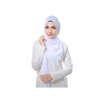Shawlbyvsnow Essential Scarf Basic Pure White