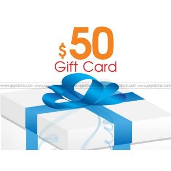 QQeStore $50 Gift Cards