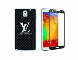 Newmond Louis Vuitton Black Crystal Premium Tempered Glass Protector for Samsung Galaxy Note 3