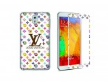 Newmond Louis Vuitton White Crystal Premium Tempered Glass Protector for Samsung Galaxy Note 3